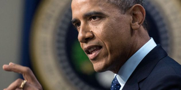 US President Barack Obama makes a statement about fiscal cliff negotiations from the White House December...