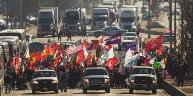 Idle No More Protesters Gather At Busiest Border