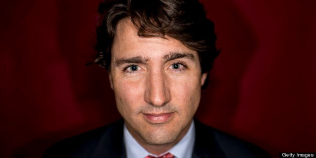TORONTO, ON - APRIL 5: The editorial board met with Liberal leadership candidate Justin Trudeau on April 5, 2013. Afterwards he posed for a photograph in the Toronto Star studio.        (Carlos Osorio/Toronto Star via Getty Images)