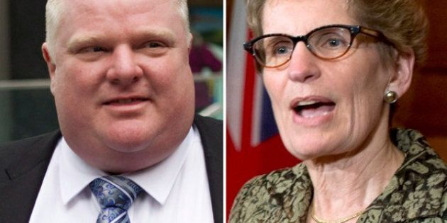 Rob Ford, Kathleen Wynne Meet To Discuss Casino, Transit