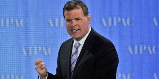 Canadian Foreign Minister John Baird speaks at the American Israel Public Affairs Committee (AIPAC) annual...
