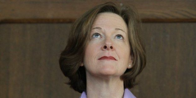 Alison Redford, Alberta Premier,Defends Political Attack Speech To Kids While Announcing