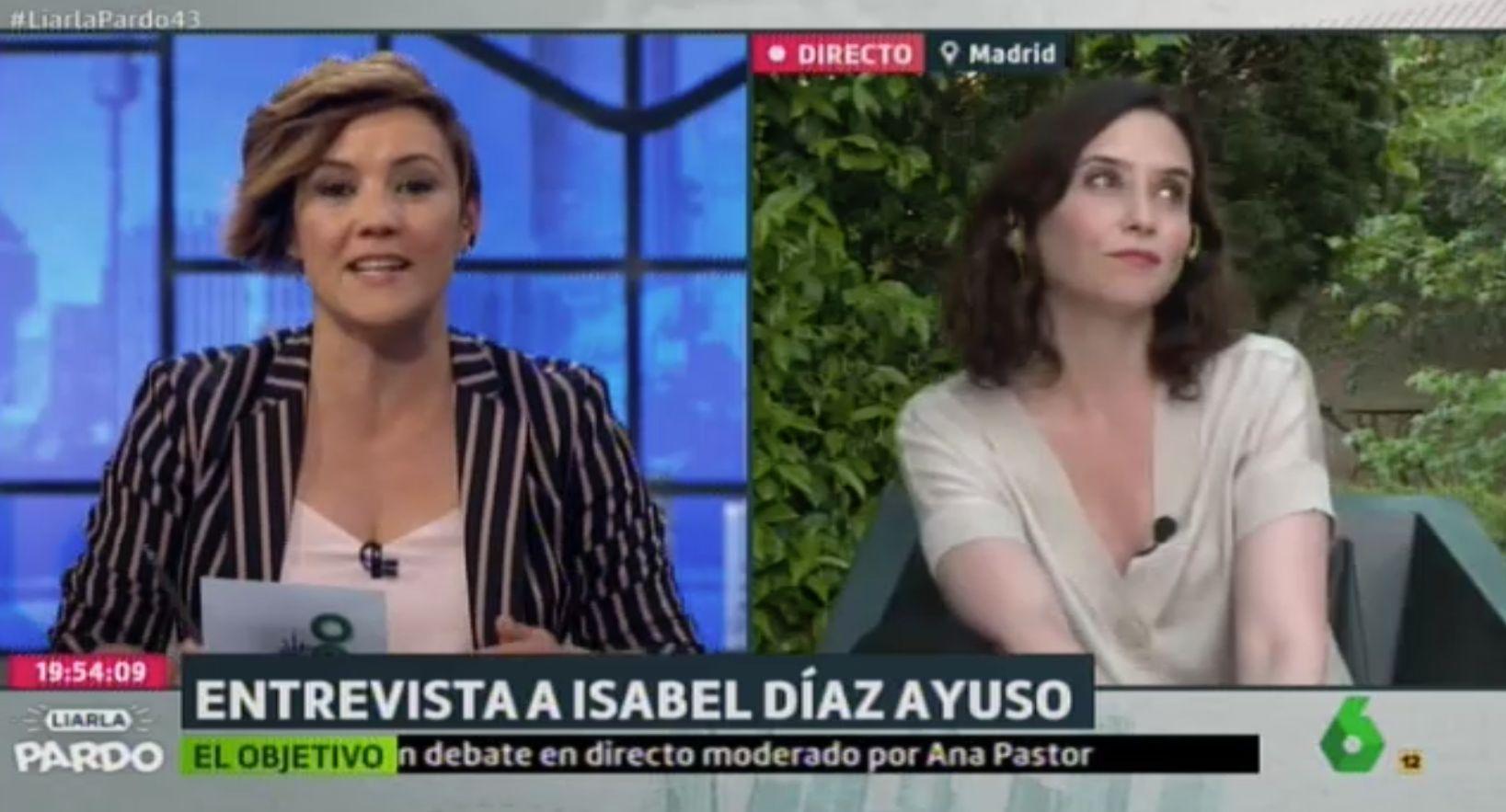 El comentario de Cristina Pardo que ha dejado con esta cara a Díaz Ayuso en 'Liarla