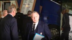 Le bus des Lyonnais caillassé en arrivant au Vélodrome pour OM-OL, Aulas hors de