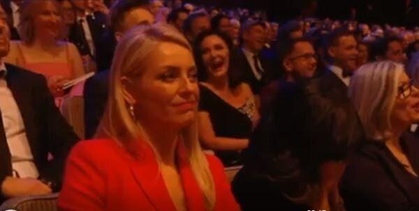 Tess Daly had a face like thunder as Graham Norton cracked a joke at Seann Walsh and Katya Jones'