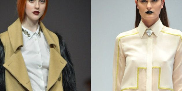 Toronto Fashion Week 2012 Day Four: Androgyny Rules With The Ladies At Caitlin Power, Pink Tartan