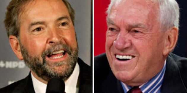 NDP Leadership: Ed Broadbent Says Thomas Mulcair Taking Credit For Jack Layton's
