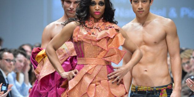 Toronto Fashion Week 2012: More Androgyny Meets Ultra-Feminine At Rad Hourani, Joeffer Caoc, Arthur Mendonca