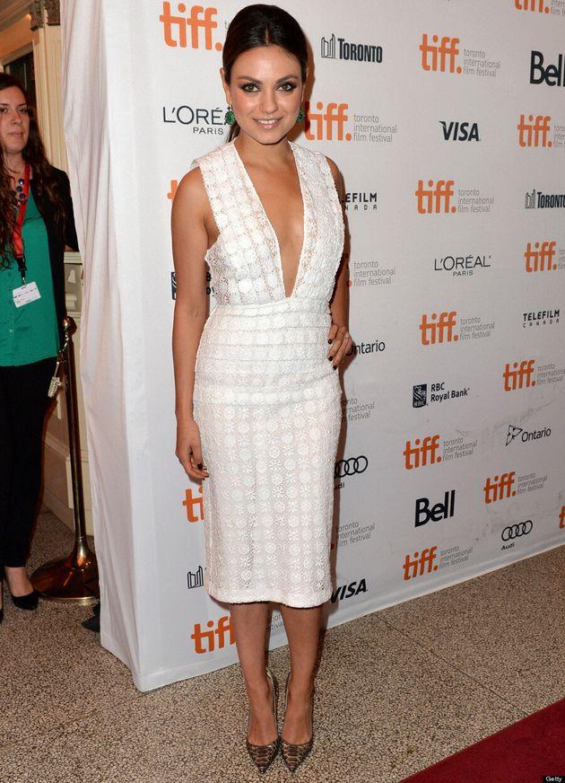 Mila Kunis TIFF 2013: Ashton Kutcher's Girlfriend A Vision In White On The Red Carpet
