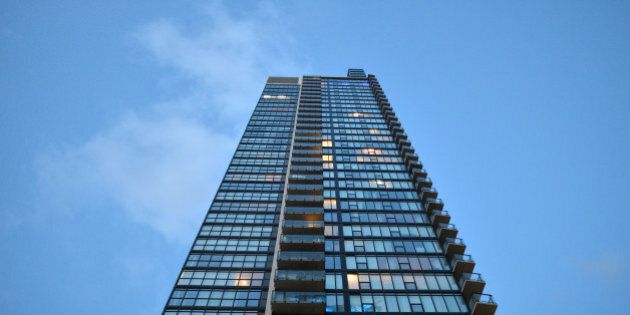 TORONTO, ON - APRIL 20: A view of a condo building in Toronto. (Carlos Osorio/Toronto Star via Getty