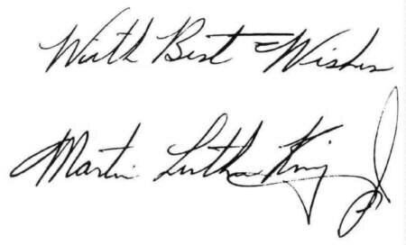 What is Your Handwriting Style Saying? Martin Luther King's Spells