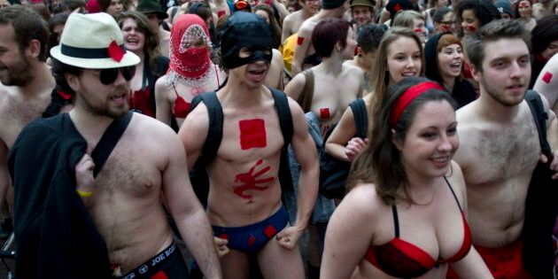 Quebec Student Underwear Protests: Anti-Tuition Hike Fight Gets Bare (PHOTOS,