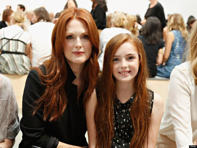Julianne Moore Takes Her Look-A-Like Daughter To New York Fashion Week