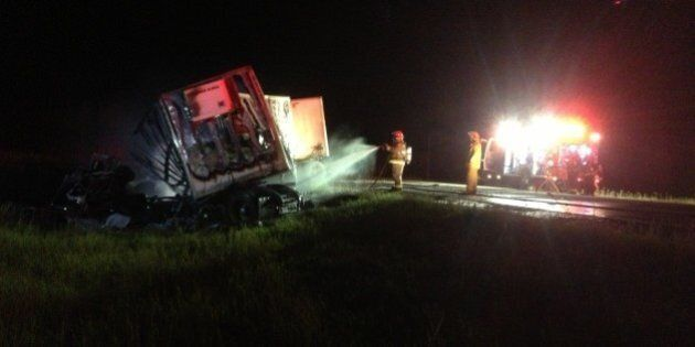 Highway 63 Fatal Crash: One Person Killed In Fiery Car-Truck Crash On Northern