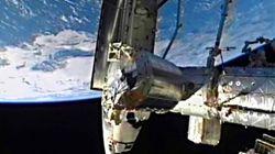 Atlantis Docks At Space Station For Last