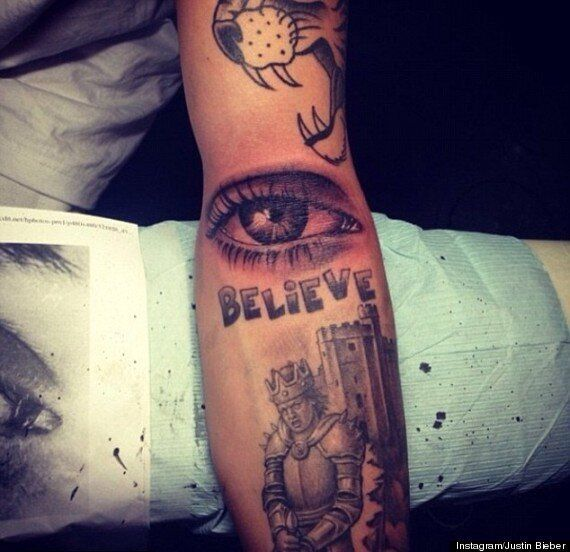 Justin Bieber's New Tattoo Is Eye-Popping