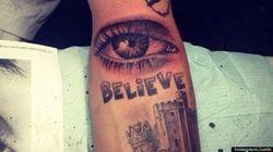 J.Bieb's New Tattoo Is