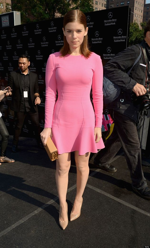 Kate Mara's New York Fashion Week Dress Look Like Pepto Bismol