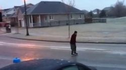 WATCH: Man Uses Street As A Skating