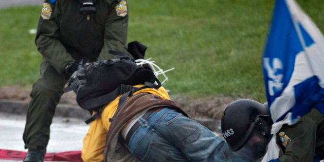 Quebec Student Protests: Protester Severely Injured In Victoriaville Outside Liberal