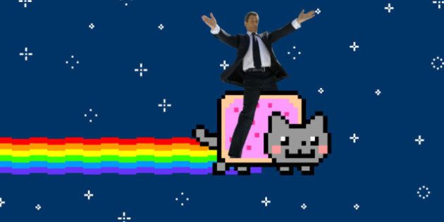 Sarkozy Meme: Tumblr Creates Images Of Ex French President Riding Nyan Cat, Hanging Out With LMFAO