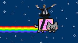 Sarkozy Meme Has Ex-President Riding Nyan Cat And