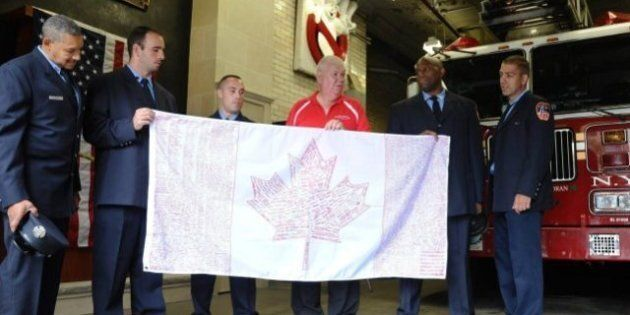 9/11 Anniversary: Canadians In NYC Pay Tribute To American