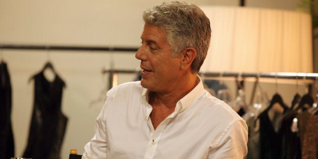 Anthony Bourdain in ABC's 'The Taste,' which ran from 2013 to