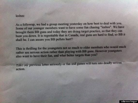 Letters To Kingston Lesbians Contain Bizarre, Troubling Threats