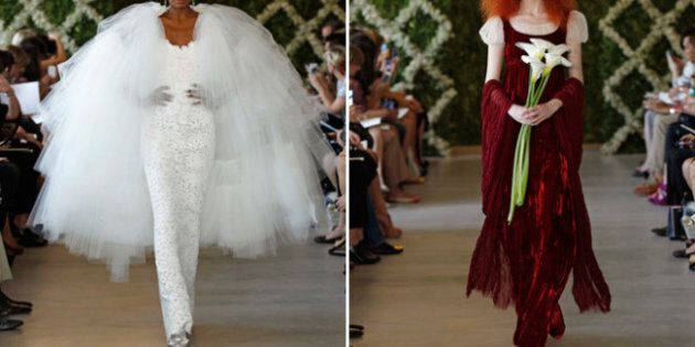 Wedding Trends: Dramatic Gowns From Oscar De La Renta's 2013 Collection