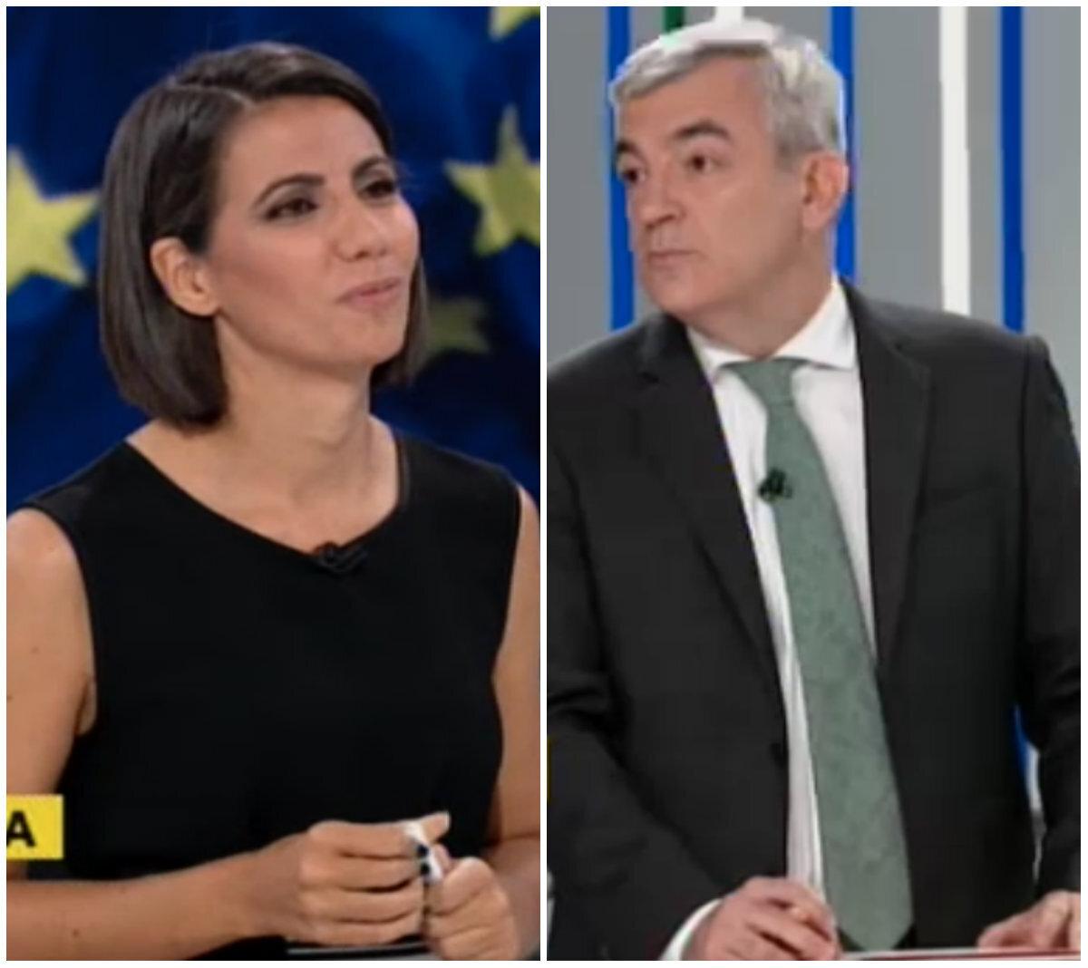 El 'corte' de Ana Pastor a Luis Garicano (C's) en el debate de