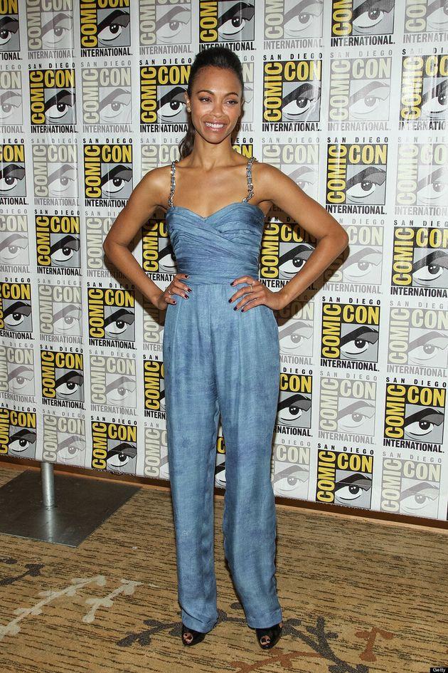Zoe Saldana Wears Unflattering Jumpsuit At 2013 Comic-Con