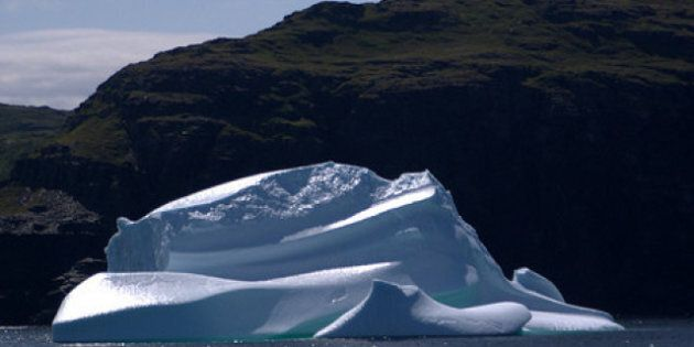 Newfoundland Ice Island From Greenland Creates Iceberg