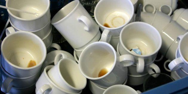 dirty coffee and tea