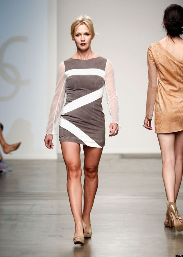 Jennie Garth Walks New York Fashion Week Runway