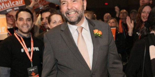 New NDP Leader Mulcair Vows No Merger With