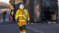 Alberta Bus Rollover Leaves Passengers Trapped, Injured