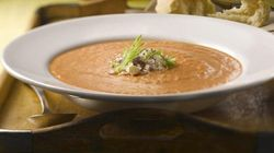Roasted Tomato Soup With Feta And