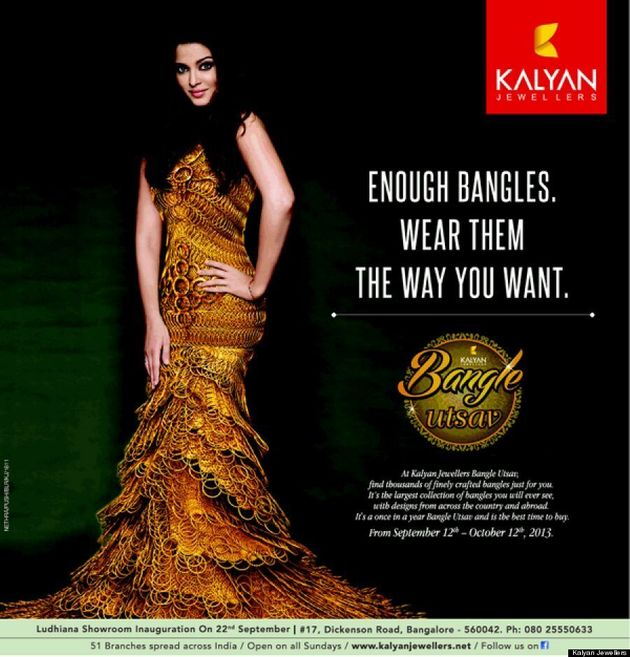 Aishwarya Rai Goes Glam In Stunning Bangles Dress For Kalyan Jewelers Ad