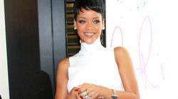 Rihanna Wears Something
