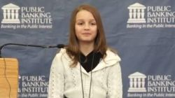 WATCH: 12-Year-Old Girl Lectures On Evils Of Canada's Banking