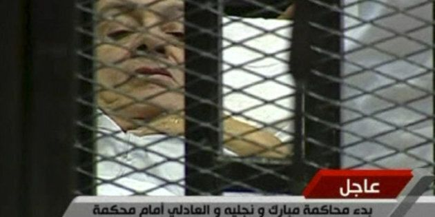 Hosni Mubarak's Trial Begins With Former Egyptian President On A