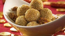Golden Balls With Walnut Paste