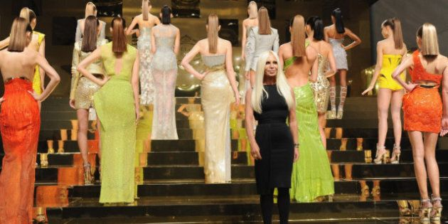 Versace Returns To Haute Couture With Grecian Drama, Gasps Of Delight From