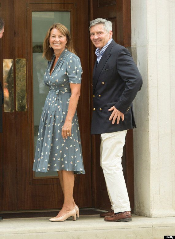 Kate Middleton's Parents Visit The Royal Baby At Hospital