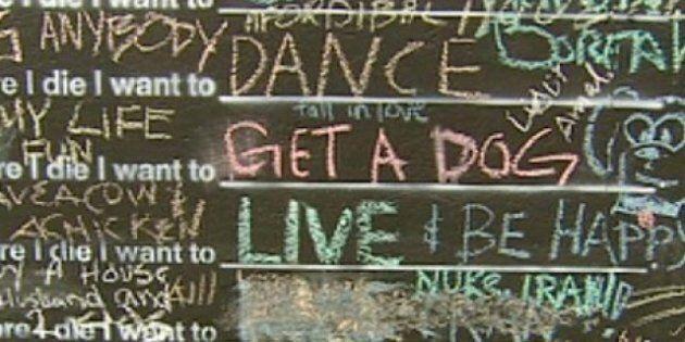 'Before I Die' Blackboard A Hit In