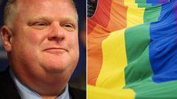 Toronto Mayor Shows Up At Rainbow Flag