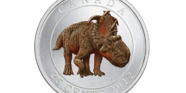 Royal Canadian Mint's Glow-In-The-Dark Dinosaur Quarter Costs A Lot More Than 25
