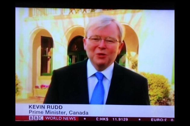 BBC News Thinks Kevin Rudd Is Prime Minister Of Canada