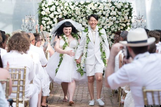 Beth Ditto Gets Married In Jean Paul Gaultier Wedding Dress (VIDEO,